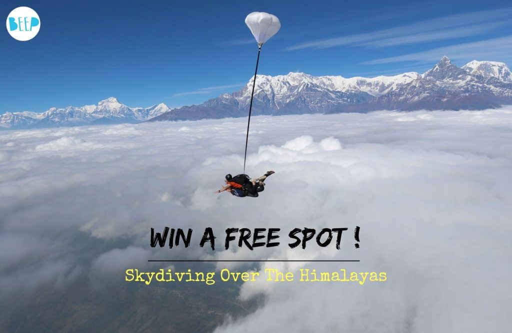 Skydiving Over The Himalayas in Nepal Contest
