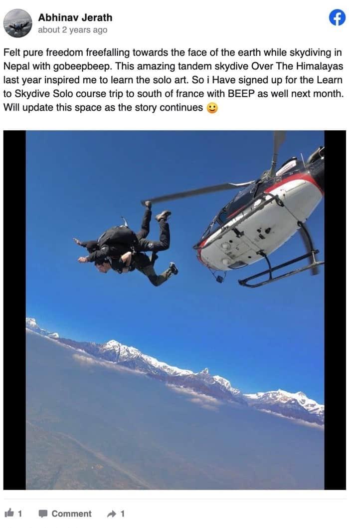 Gobeepbeep review Abhinav Nepal Skydiving Over The Himalayas (1)